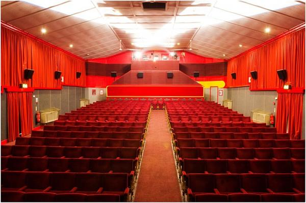 A view of our comfortable 294 seat auditorium from the stage. � Leiston Film Theatre.