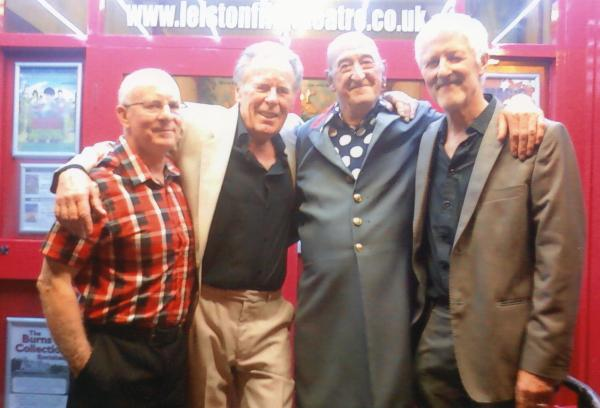 The Wild Oats following their sell our reunion concert in September 2011. L to R: Carl Harrison, Willy Brown, Stykx Scarlett and Trevor Rowland. � Leiston Film Theatre.