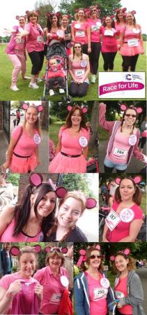 Christina's Cheeky Chimpette's Race for Life 2014