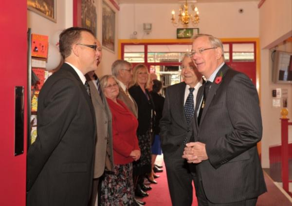 HRH The Duke of Gloucester visited the Leiston Film Theatre on Wednesday 29th October 2014 to mark its official centenary.