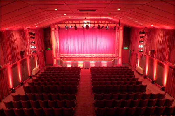 The view of the Leiston Film Theatre auditorium from the lighting gallery. � Leiston Film Theatre.